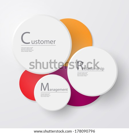Scale for information: CRM - stock vector