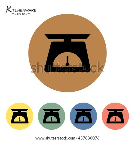 Scales icons set.Vector illustration  - stock vector