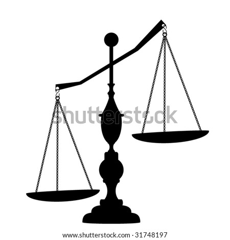scales of justice - stock vector