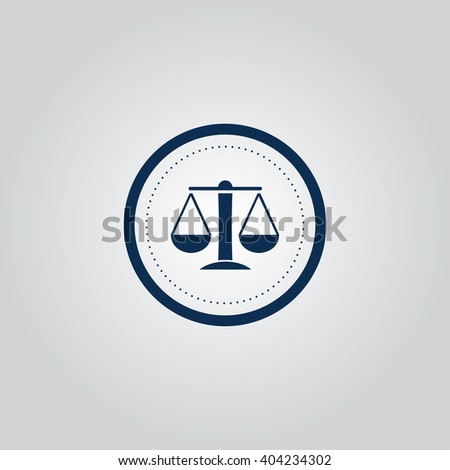 Scales of Justice icon - stock vector