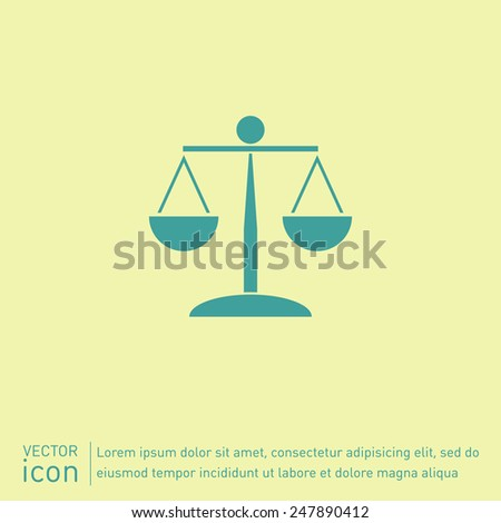 scales of justice icon. symbol of justice - stock vector