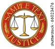 scales of justice seal (badge) - stock photo