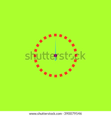 Scales screen circle. Flat simple modern illustration pictogram. Collection concept icon for infographic project and logo - stock vector