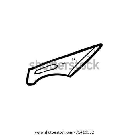 scalpel blade cartoon - stock vector