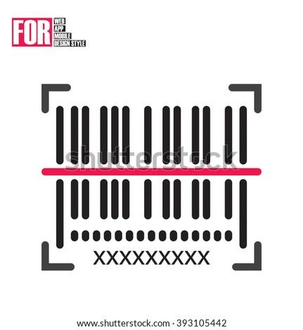 Scan Barcode icon - stock vector