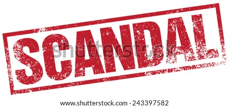 scandal stamp - stock vector