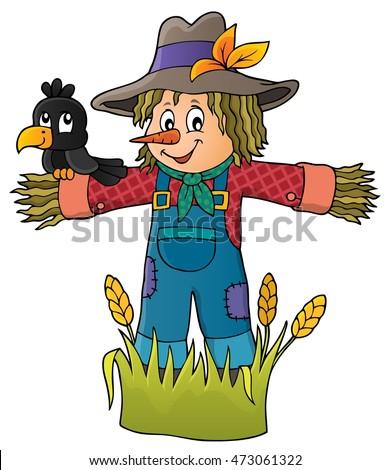 Scarecrow theme image 1 - eps10 vector illustration.