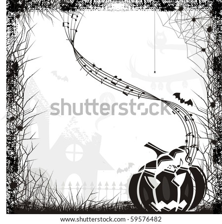 scarry music,halloween theme - stock vector