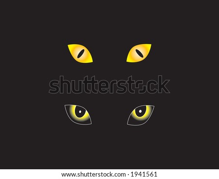 Scary eye vectors perfect for halloween. - stock vector