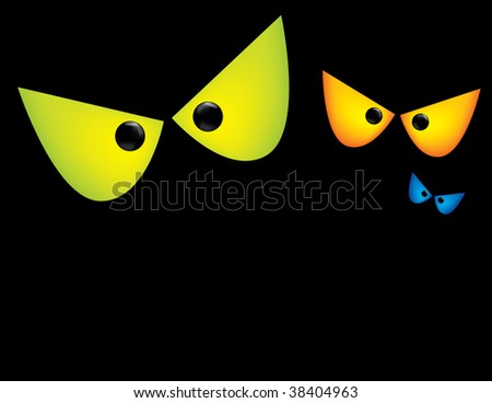 Scary Eyes Background - stock vector