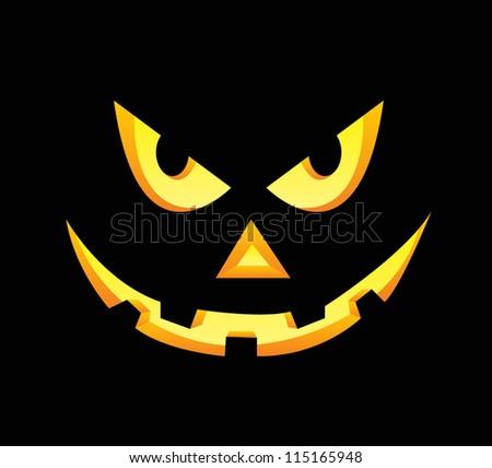 scary face halloween pumpkin on black stock photo photo vector rh shutterstock com scary cartoon clown faces scary cartoon faces images
