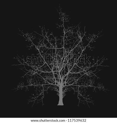 Scary Halloween Tree - stock vector