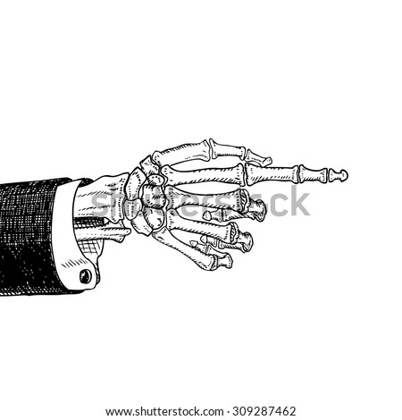 how to draw front view of pointing finger