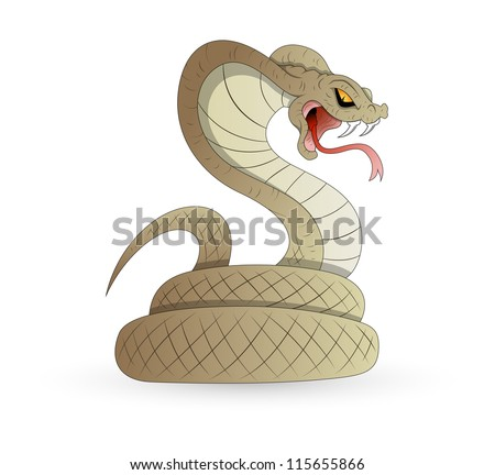 Scary Snake Vector - stock vector