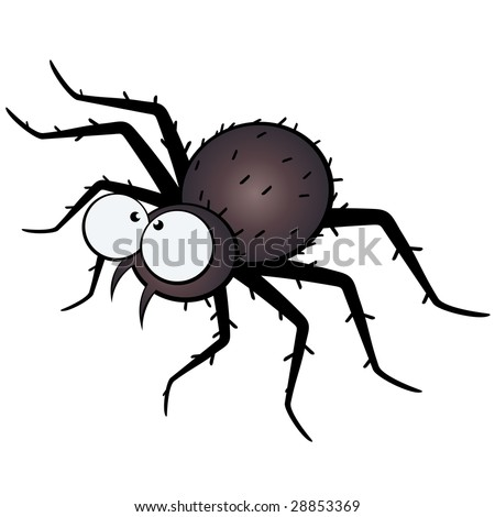 stock vector scary spider illustration 28853369 Scary Cartoon Bugs