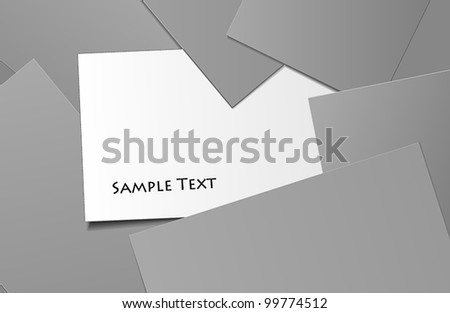 Scattered business cards - stock vector