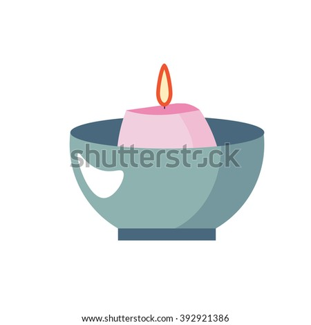 Pink candle stock images royalty free images vectors shutterstock scented candle aromatherapy vector icon flat cartoon illustration design pink candle in bowl sciox Images