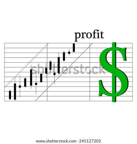 Schedule earnings confident trading on the stock exchange of the - stock vector