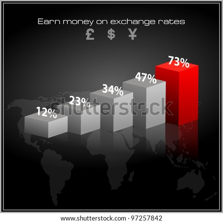 schedule of exchange rates. vector infographics - stock vector