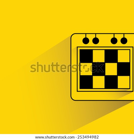 schedule on yellow background, flat and shadow theme - stock vector