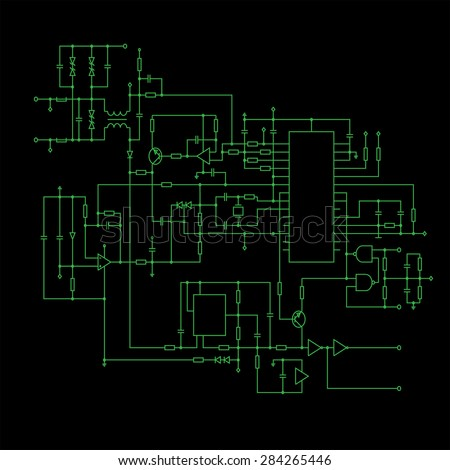 circuit diagram symbols stock images royalty images schematic diagram black background project of electronic circuit graphic