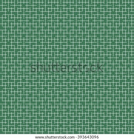 Schematic labyrinth on a green background. Vector background.