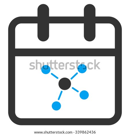 Scheme Day vector icon. Style is bicolor flat symbol, blue and gray colors, rounded angles, white background. - stock vector
