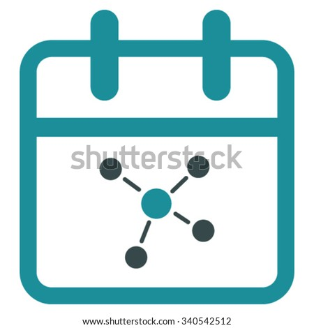 Scheme Day vector icon. Style is bicolor flat symbol, soft blue colors, rounded angles, white background. - stock vector
