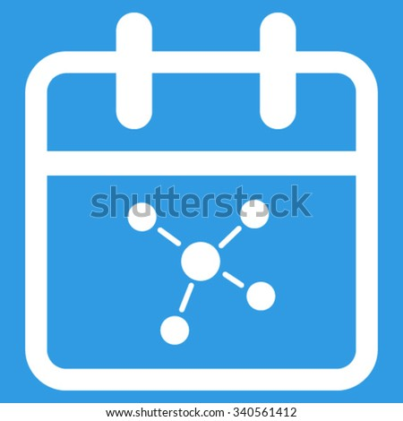 Scheme Day vector icon. Style is flat symbol, white color, rounded angles, blue background. - stock vector