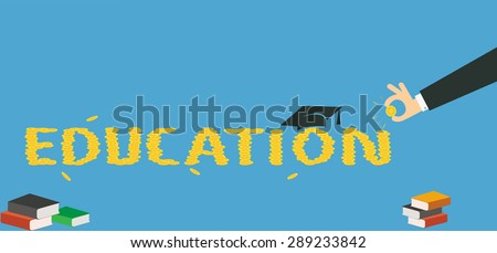 Scholarship fund , concept illustrator of the costs of education. - stock vector
