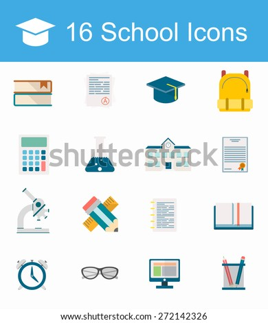 Stock Images similar to ID 134297090 - vector set of school and...
