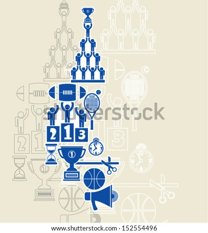 School and education. Sport. - stock vector