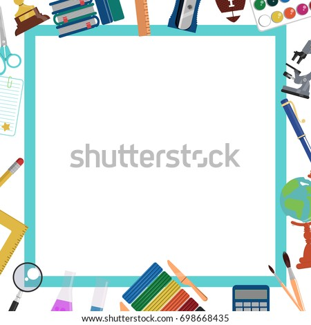 School Background Frame Template Education Design Stock Vector HD ...