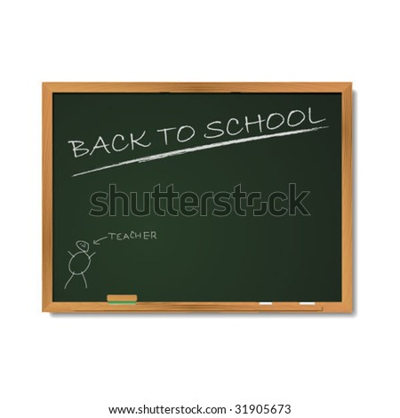 School Blackboard - stock vector