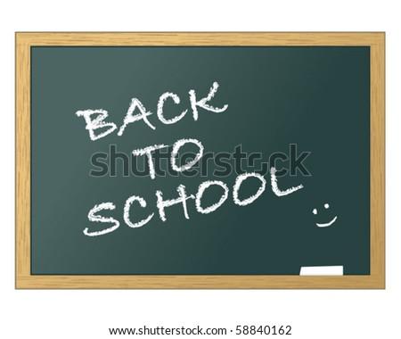 School blackboard back to school - stock vector