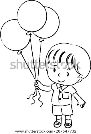 how to draw a balloon boy