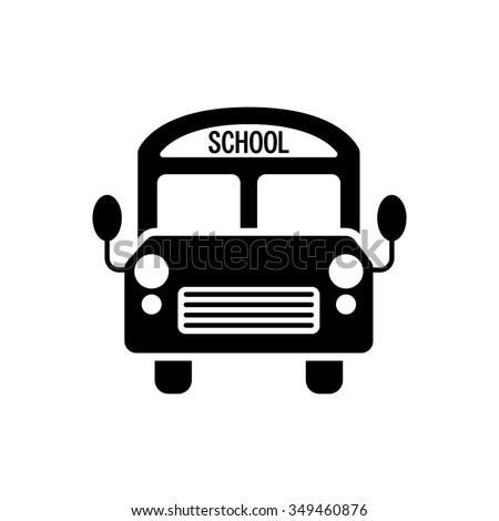 school bus icon - stock vector