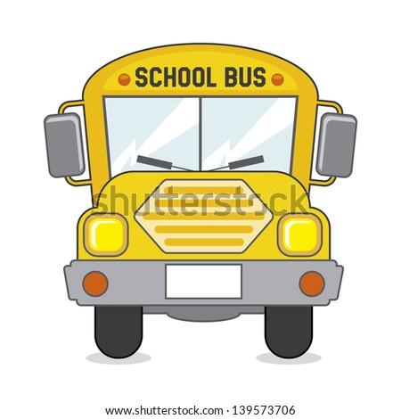 school bus icon over beige background vector illustration - stock vector
