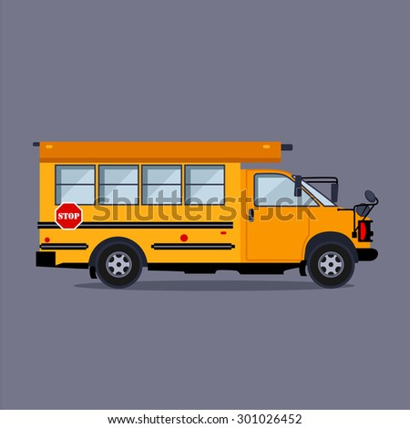School bus vector illustration flat style concept - stock vector