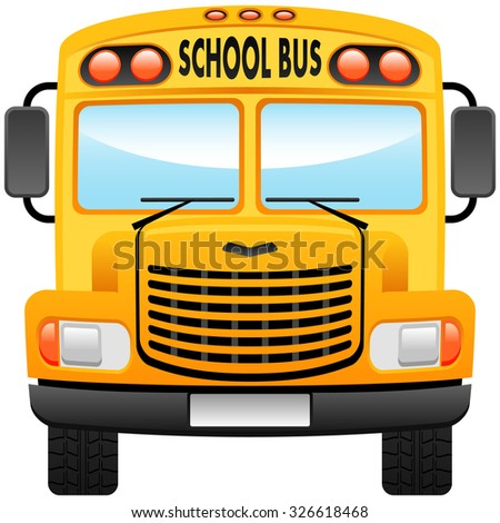 school bus vector illustration front view stock vector 326618468 rh shutterstock com school bus vector png school bus vector black and white