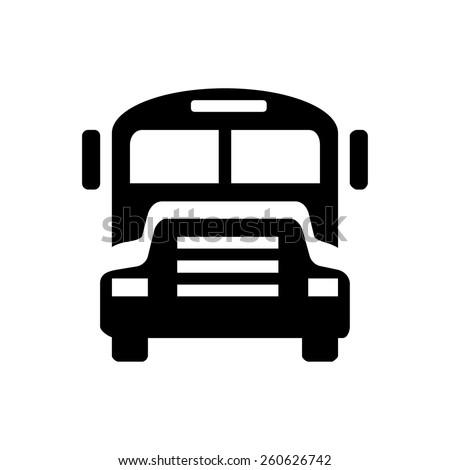 School Buss icon - stock vector
