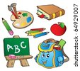 School cartoons collection - vector illustration. - stock vector