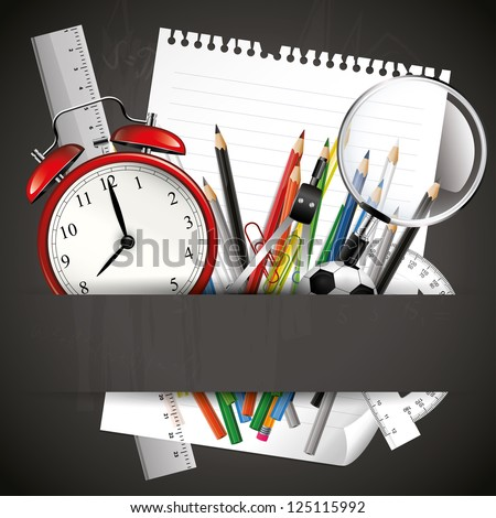 School colorful background