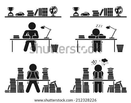 School days. Pictogram icon set. School children. Back to school. Vector set.  - stock vector