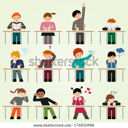 School days we have all been there - stock vector