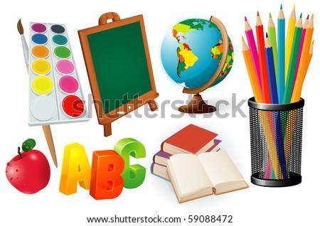 School. Design elements set. - stock vector