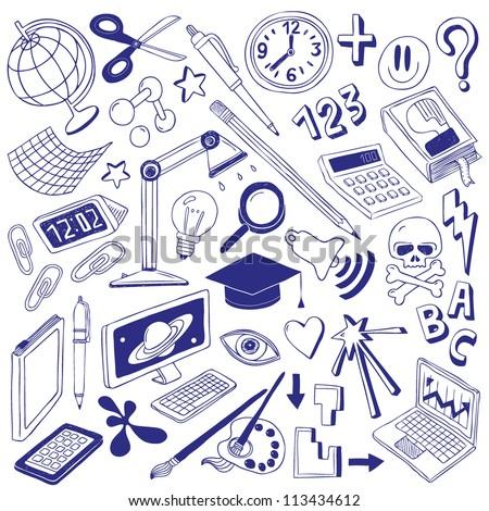 School - doodles collection - stock vector