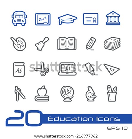 School & Education Icons // Line Series - stock vector