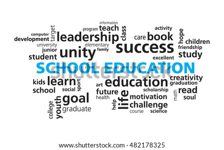 School Education Word Cloud Vector Template Stock Vector 482178325 ...