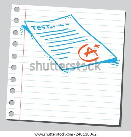 School exam test - stock vector
